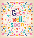 Get well soon card greeting Stock Image