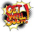 Get Well Soon Comic Book Words