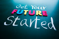 Get your future started concept Stock Photo