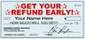 Get Your Tax Refund Early - File Now for Fast Return of Refunds Royalty Free Stock Photo