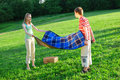 Gettin ready for picnic Royalty Free Stock Photo