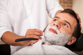 Getting a close shave Royalty Free Stock Photo