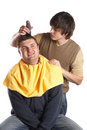 Getting a Haircut Royalty Free Stock Photo