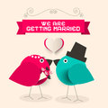 We Are Getting Married Retro Greeting Card Royalty Free Stock Photo