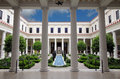 Getty Villa Inner Courtyard Stock Photography