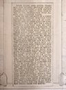 Gettysburg address inscribed in stone at abraham lincoln memorial washington Royalty Free Stock Images