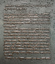 Gettysburg address monument inscription abraham lincoln s as inscribed on a in pennsylvania wet with a recent rainfall Royalty Free Stock Photos