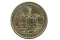 Gettysburg Quarter Coin Royalty Free Stock Photo