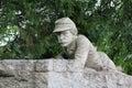 Gettysburg Statue - Civil War Soldier Royalty Free Stock Photo