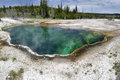 Geyser Basin in Yellowstone panorama Stock Images