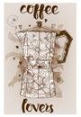 Geyser coffee maker Royalty Free Stock Photo
