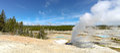 Geyser pools at Yellowstone National Park Royalty Free Stock Photo
