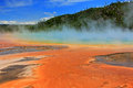 Geyser in Yellowstone. Royalty Free Stock Photo