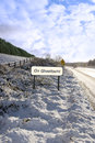 An ghaeltacht sign in irish snowscape Stock Images