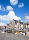 Ghent Canal,Belgium Royalty Free Stock Photography