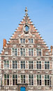 Ghent house facade of a along the graslei in belgium Stock Photography
