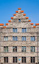Ghent house facade of a along the graslei in belgium Royalty Free Stock Photo