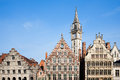 Ghent houses facade of along the graslei in belgium Royalty Free Stock Images