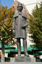 Gheorghe lazar statue of man of culture in sibiu Stock Images