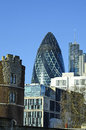 The gherkin building great britain london Stock Images