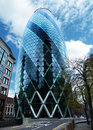 The Gherkin skyscraper London Royalty Free Stock Photo