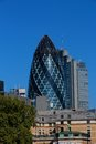 The gherkin st mary axe street in london known as Royalty Free Stock Photo