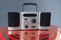 Ghetto Blaster Retro Style Portable Radio Royalty Free Stock Photo