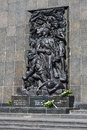 Ghetto heroes memorial shown in close up warsaw poland march commemorates the who fought against the nazis during the uprising Royalty Free Stock Photography