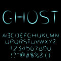 Ghost alphabet spooky font.