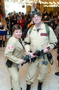 Ghost busters cosplayers east european comic con bucharest romania Royalty Free Stock Photography