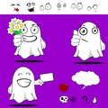 Ghost funny cartoon set in vector format very easy to edit Royalty Free Stock Photo