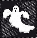 Ghost illustration of a spooky Stock Images