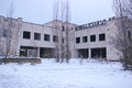 Ghost Pripyat Chernobyl Exclusion Zone at Winter Royalty Free Stock Photo