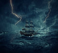 Ghost ship Royalty Free Stock Photo