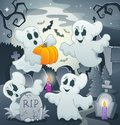 Ghost topic image eps vector illustration Royalty Free Stock Photos