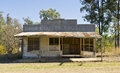 Ghost town cracow queensland australia deserted shacks in in outback Royalty Free Stock Photo