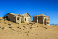 Ghost town in the desert of namibia kolmanskop towns area diamond mines esterior a house Royalty Free Stock Image