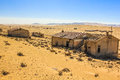 Ghost town in the desert of namibia kolmanskop towns area diamond mines esterior a house Stock Photography