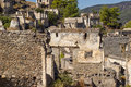 Ghost town kayakoy in turkey fethiye region Royalty Free Stock Photo