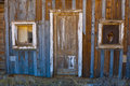 Ghost Town Old Door and Windows Royalty Free Stock Photography