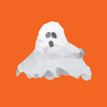 Ghost of triangles on orange background Royalty Free Stock Photo