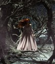 Ghost woman in the woods