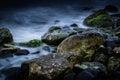 Ghostly Rocks Shoreline Royalty Free Stock Photo