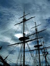 A ghostly ship Royalty Free Stock Photo