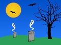 Ghosts and bats Royalty Free Stock Photo