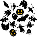Ghosts funny for halloween vector illustration Stock Photography