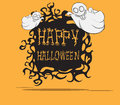 Ghosts halloween monster create cartoon hand drawing image illustration Stock Photography