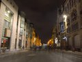 Ghosts in a street of Ghent Royalty Free Stock Photo