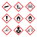 GHS 9 New Hazard Pictogram. Hazard warning sign WHMIS , isolated vector illustration Royalty Free Stock Photo