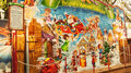 Giant advert calendar bristol uk november an in the th german christmas market in broadmead bristol they are traditional chalets Royalty Free Stock Photo